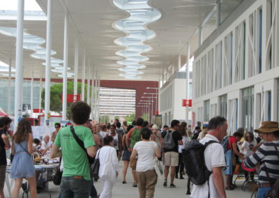 La Bibliothèque Humaine à L'EUSI 2017 (Université Européenne d'Eté des Mouvements Sociaux)